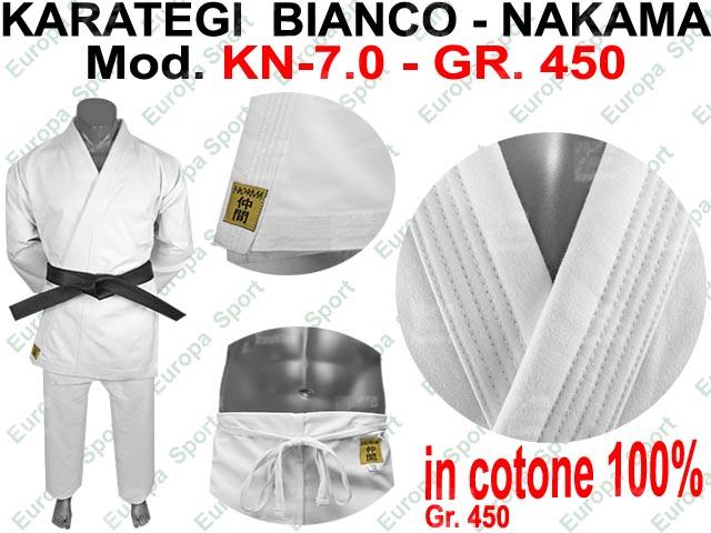 KARATEGI BIANCO ( GR. 450 ) MOD. NAKAMA KN-7.0