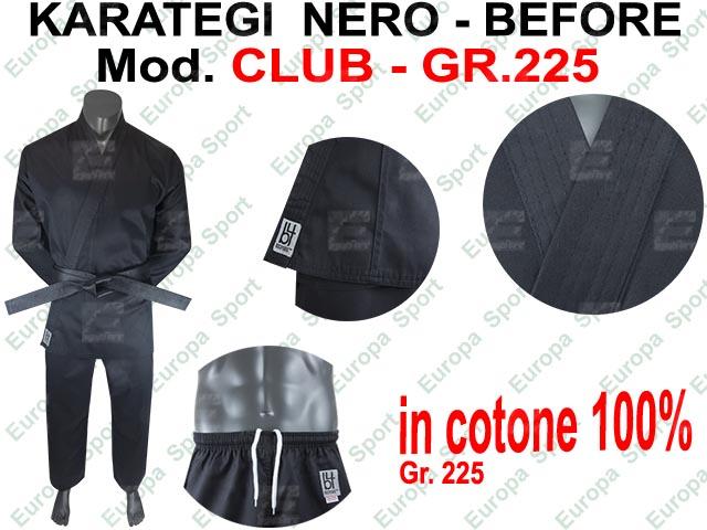 KARATEGI NERO ( GR. 225 ) MOD. CLUB CM. 130 MIS. 0