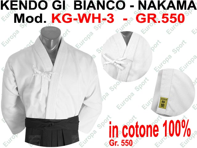 KENDO GI BIANCO ( GR. 550 ) NAKAMA MOD. KG-WH-3