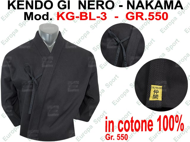 KENDO GI NERO ( GR. 550 ) NAKAMA MOD. KG-BL-3