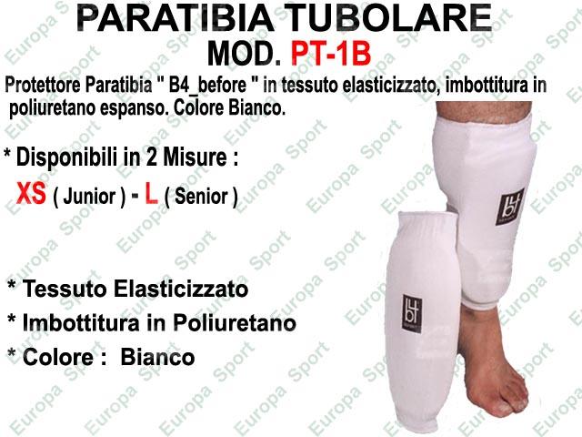 PARATIBIA TUBOLARE IN TESSUTO ELAST. BIANCO  MOD. PT-1B