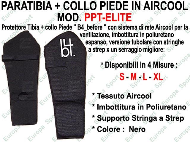 PARATIBIA + COLLO PIEDE IN AIRCOOL TUBOLARE  MOD. PPT-ELITE