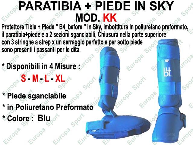 PARATIBIA + PIEDE IN SKY COL. BLU MOD. KK