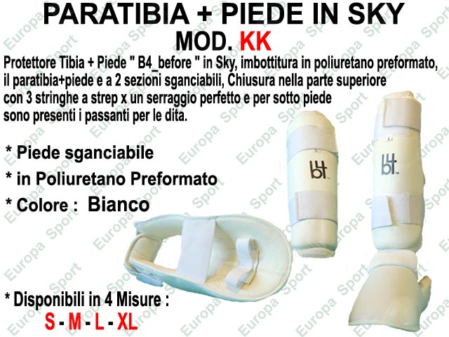 PARATIBIA + PIEDE IN SKY COL. BIANCO MOD. KK