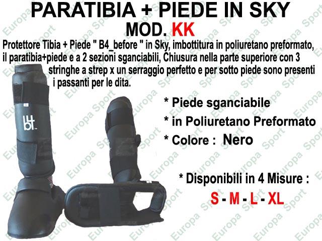 PARATIBIA + PIEDE IN SKY COL. NERO MOD. KK