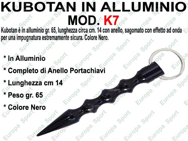 KUBOTAN IN ALLUMINIO NERO LUNGH. CM. 14 MOD. K7