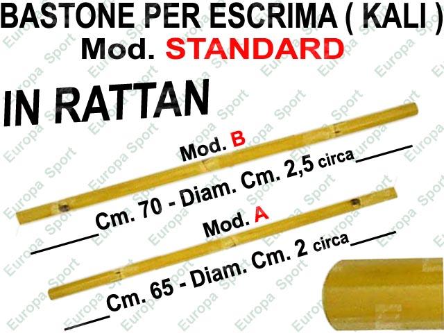 BASTONE PER ESCRIMA ( KALI ) IN RATTAN MOD. STANDARD