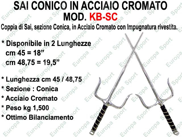 SAI CONICO IN ACCIAIO CROMATO  MOD. KB-SC