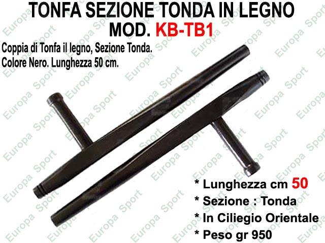 TONFA SEZIONE TONDA IN LEGNO COL. NERO MOD. KB-TB1