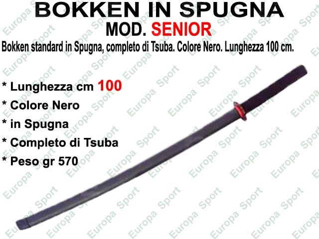 BOKKEN IN SPUGNA DI COL. NERO - CM. 100  MOD. SENIOR