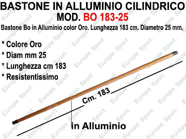 BASTONE IN ALLUMINIO CILINDRICO DI COL. ORO MOD. BO 183-25