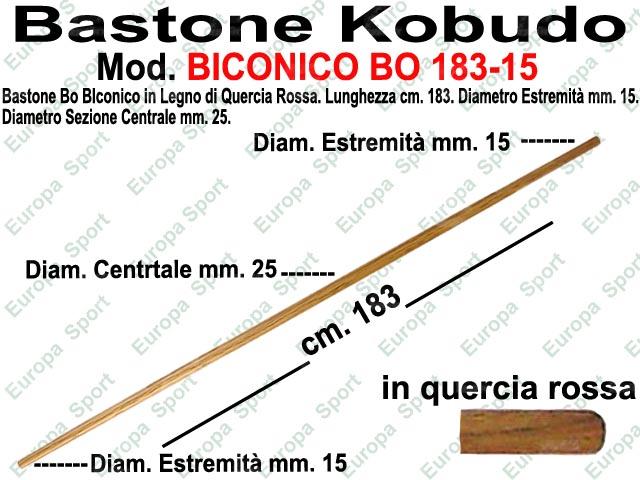 BASTONE IN LEGNO BICONICO DI QUERCIA ROSSA MOD. BO 183-15