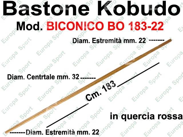 BASTONE IN LEGNO BICONICO DI QUERCIA ROSSA MOD. BO 183-22