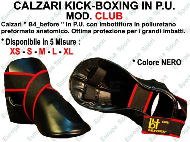 CALZARI KICK-BOXING IN P.U. COL. NERO MOD. CLUB