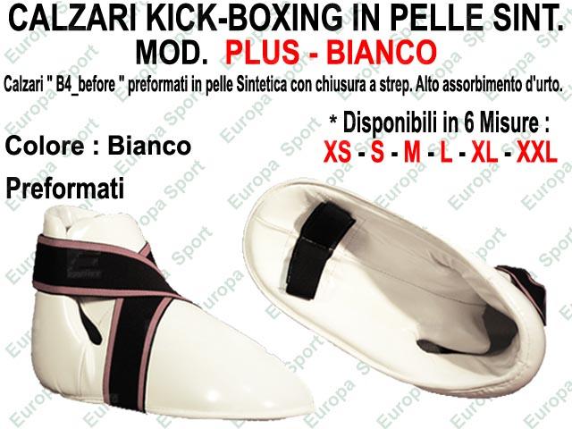 CALZARI KICK-BOXING IN PELLE SINT. COL. BIANCO MOD. PLUS