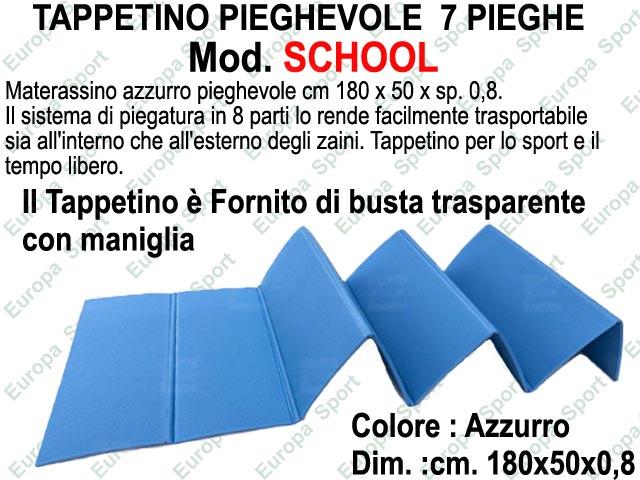 TAPPETINO PIEGHEVOLE  8 PIEGHE DIM. CM. 180x50x0,7  MOD. SCHOOL