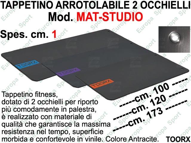 TAPPETINO ARROTOLABILE CON 2 OCCHIELLI TOORX  MOD. MAT-STUDIO