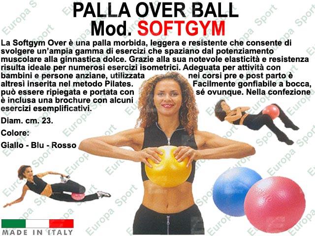 PALLA OVER BALL DIAM. CM. 23  MOD. SOFTGYM - Made Italy