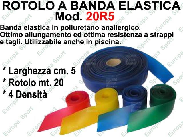 ROTOLO A BANDA ELASTICA DA MT. 20 LARG. CM. 5  MOD. 20R5