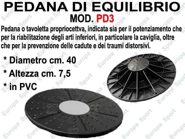 PEDANA DI EQUILIBRIO - BALANCE BOARD TONDA IN PVC CON ALTEZZA FISSA MOD. PD3