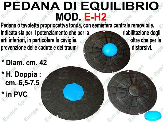 PEDANA DI EQUILIBRIO - BALANCE BOARD TONDA IN PVC DOPPIA ALTEZZA MOD. E-H2
