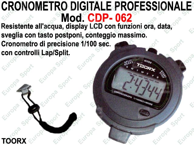 CRONOMETRO DIGITALE PROFESSIONALE  MOD. CDP- 062