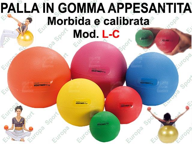 PALLA IN GOMMA APPESANTITA MORBIDA E CALIBRATA  MOD. L-C - Made Italy