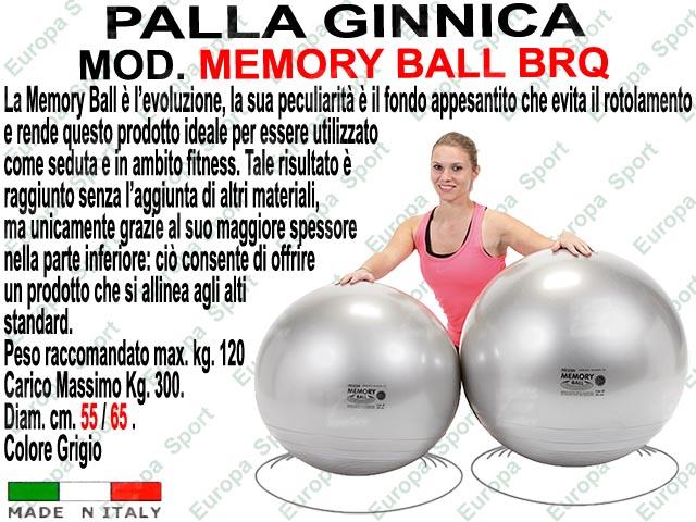 PALLA GINNICA MOD. MEMORY BALL BRQ  - Made Italy