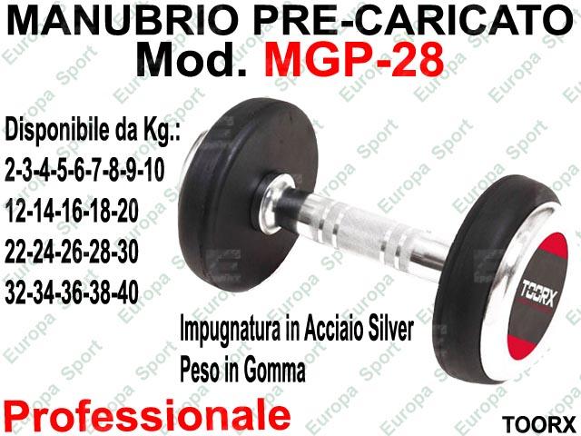 MANUBRIO GOMMATO PRE-CARICATO MOD. MGP - KG. 28