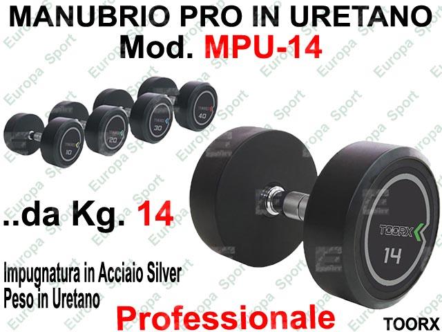 MANUBRIO PROFESSIONALE IN URETANO  PRE-CARICATO KG. 14  MOD. MPU-14