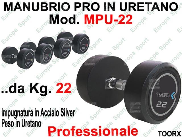 MANUBRIO PROFESSIONALE IN URETANO  PRE-CARICATO KG. 22  MOD. MPU-22