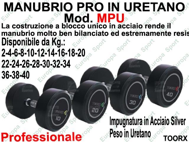 MANUBRIO PROFESSIONALE IN URETANO  PRE-CARICATO TOORX  MOD. MPU