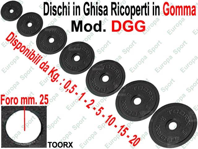 DISCO RICOPERTO IN GOMMA FORO DIM. MM. 26 TOORX  MOD. DGG