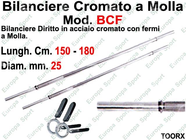 BILANCIERE DIRITTO IN ACCIAIO CON FERMI A  MOLLA DIAM. MM. 25 TOORX  MOD. BCF