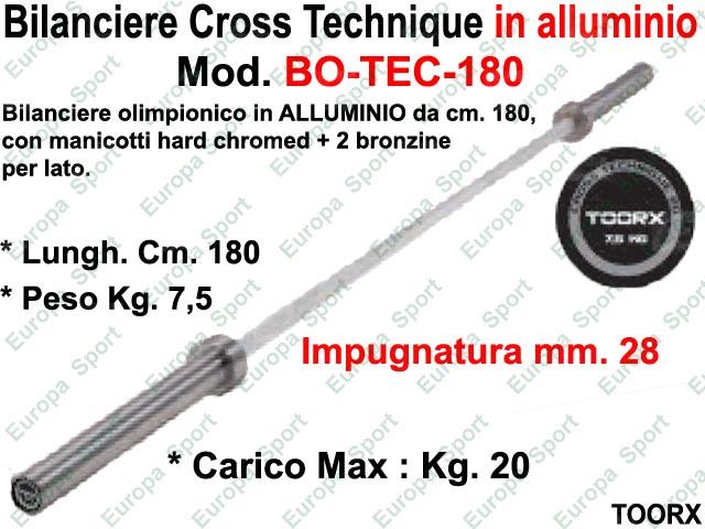 BILANCIERE OLIMPIONICO IN ALLUMINIO CM. 180 TOORX  MOD. BO-TEC-180