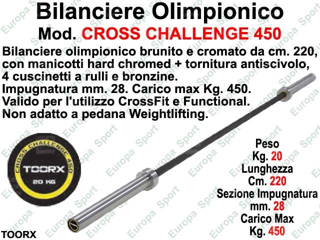 BILANCIERE OLIMPIONICO CM. 220 TOORX  MOD. CROSS CHALLENGE 450