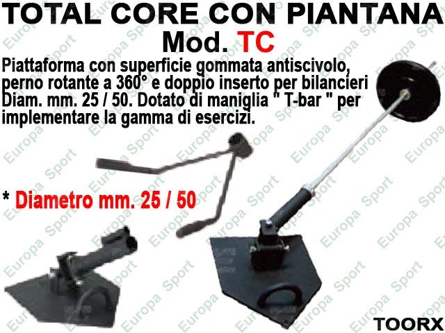 TOTAL CORE - PIATTAFORMA ROTANTE 360° PER BILANCIERI TOORX  MOD. TC  ( 155 )