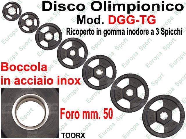 DISCO GOMMATO OLIMPIONICO CON 3 SPICCHI DIAM. FORO MM. 50 TOORX  MOD. DGG-TG