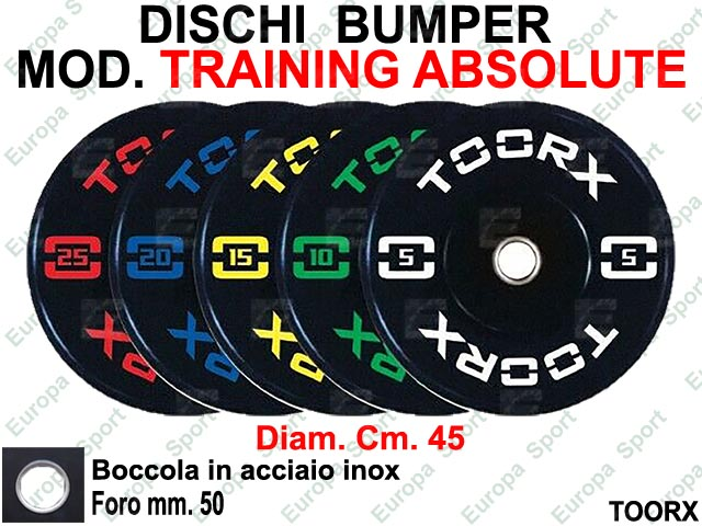DISCO BUMPER IN GOMMA COL. NERO TOORX  MOD. TRAINING ABSOLUTE - ADBT