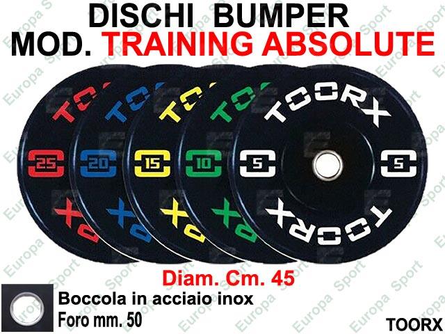 DISCHI BUMPER IN GOMMA COL. NERO TOORX  MOD. TRAINING ABSOLUTE - ADBT