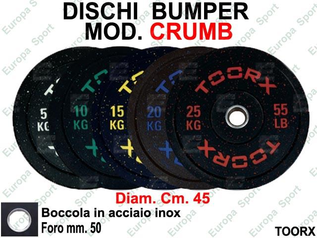 DISCHI BUMPER IN GOMMA COL. NERO TOORX  MOD. CRUMB - DBCR