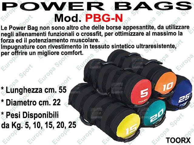 POWER BAG CON 6 IMPUGNATURE  MOD. TOORX - PBG-N