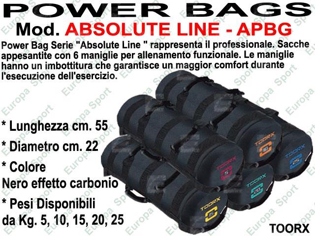 POWER BAG CON 6 IMPUGNATURE - ABSOLUTE LINE TOORX  MOD. APBG