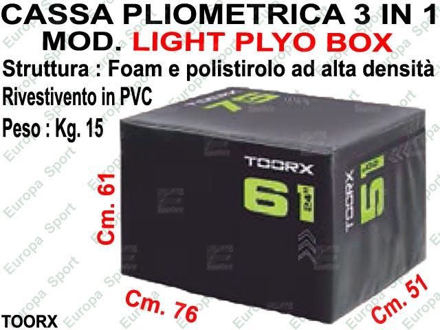 CASSA PLIOMETRICA 3 IN 1 DIM. CM. 51x61x76 MOD. LIGHT PLYO BOX - TOORX
