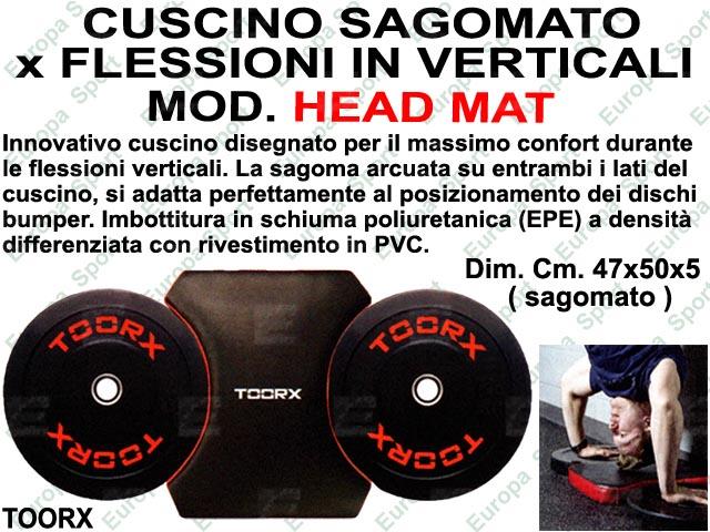CUSCINO SAGOMATO PER FLESSIONI VERTICALI  DIM. CM. 47x50x5 MOD. HEAD MAT - TOORX