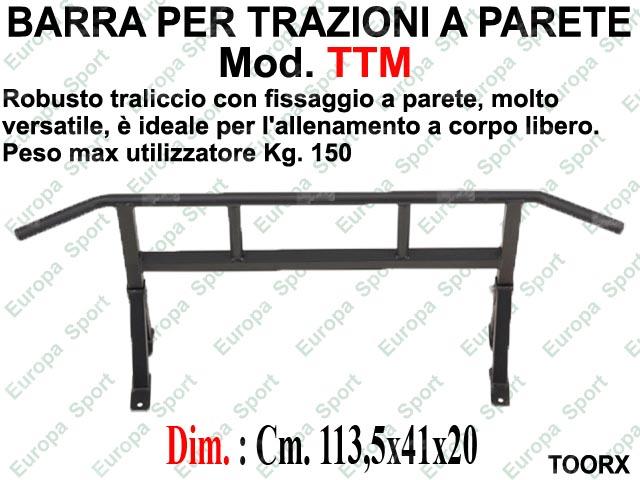 BARRA PER TRAZIONI CON FISSAGGIO A PARETE TOORX  MOD. TTM