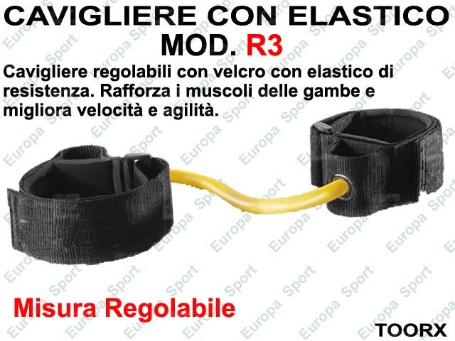 CAVIGLIERE CON ELASTICO DI RESISTENZA MOD. TOORX - R3