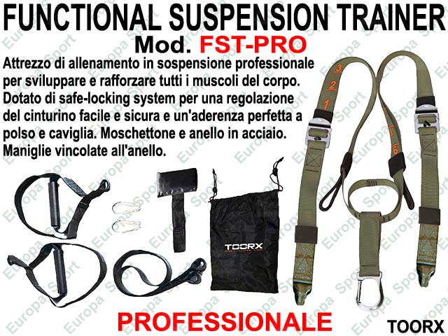 FUNCTIONAL SUSPENSION TRAINER PROFESSIONALE MOD. TOORX - FST-PRO