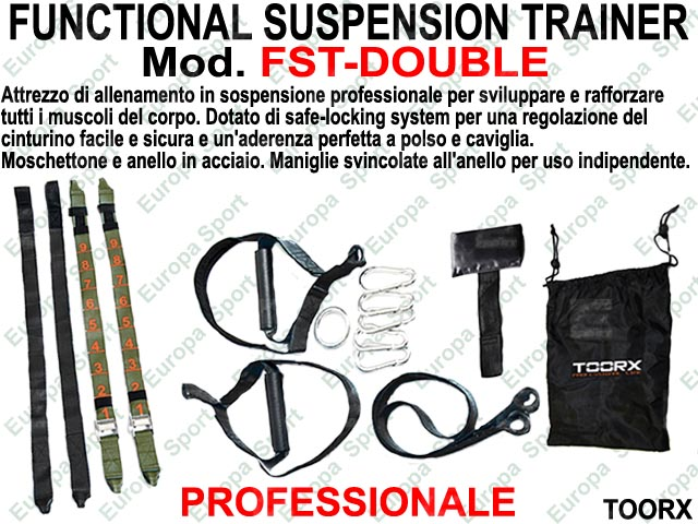 FUNCTIONAL SUSPENSION TRAINER PROFESSIONALE MOD. TOORX - FST-DOUBLE