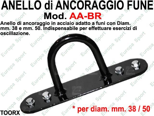 ANELLO ANCORAGGIO IN ACCIAIO PER FUNI CON DIAM. MM. 38 / 50 TOORX  MOD. AA-BR